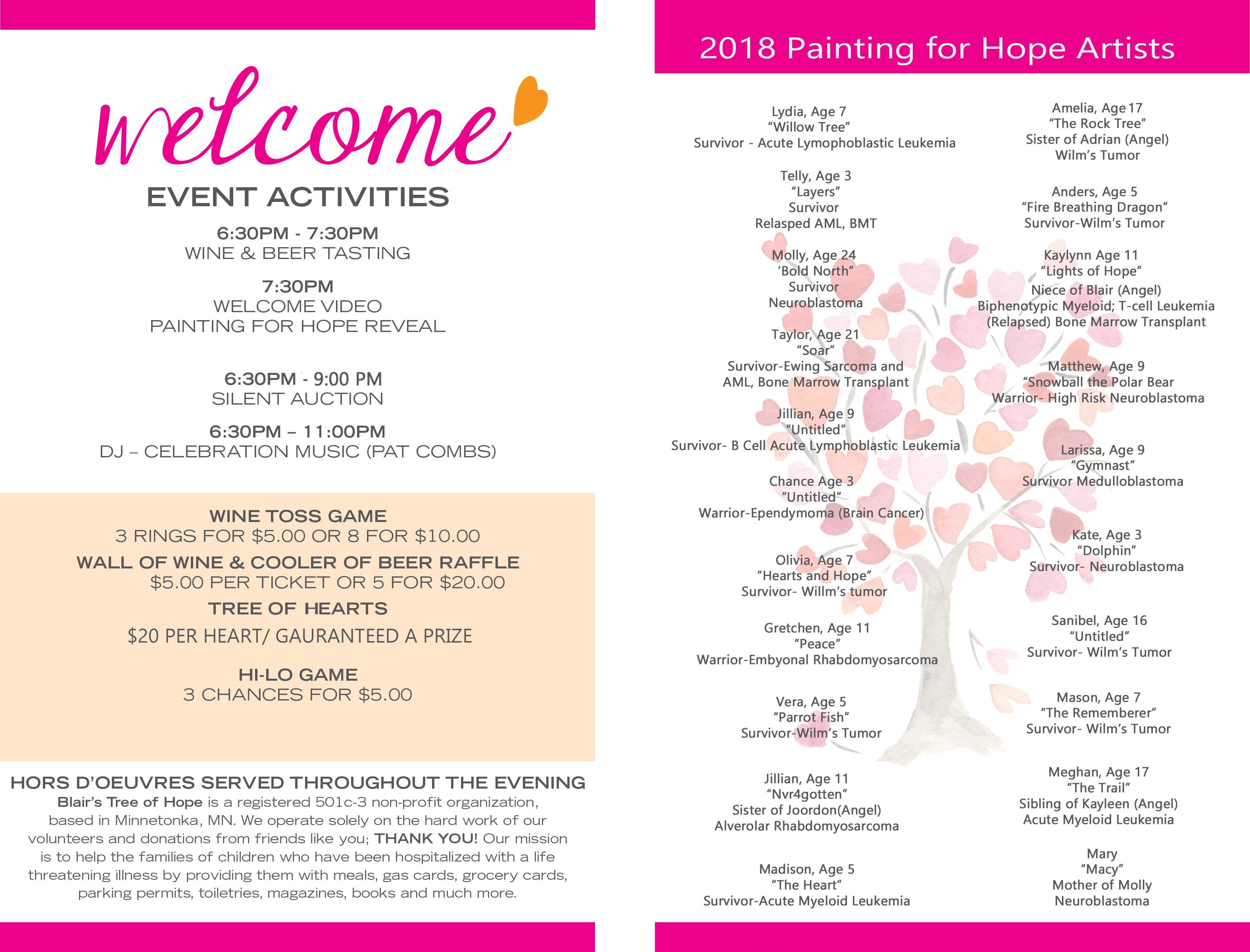 2018 Interpretations of Hope Event   Blair's Tree of Hope